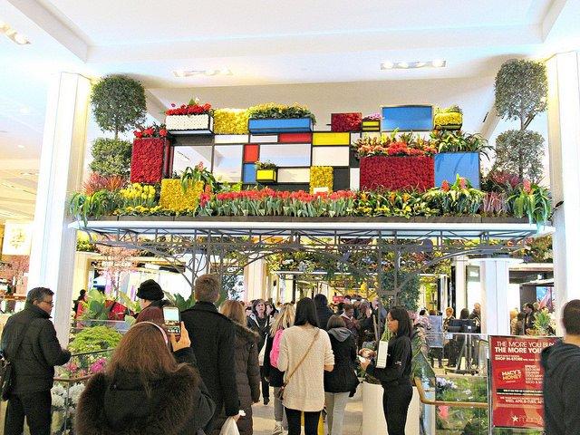 La exposición de flores en Macy's también se celebra en Nueva York en marzo
