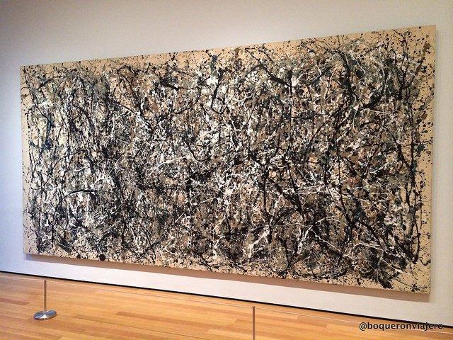 La obra de Jackson Pollock en el MoMA en Nueva York
