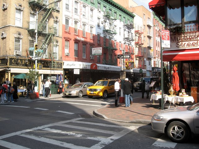 Mulberry Street en Little Italy, Nueva York