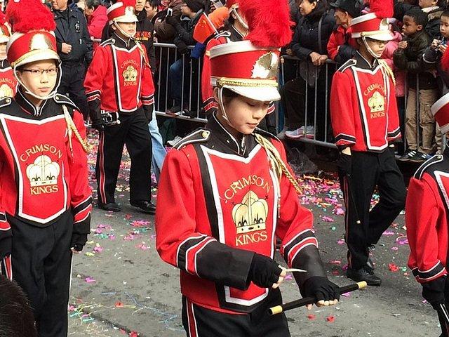 Una banda de música en el desfile de Año Nuevo Chino en Chinatown.