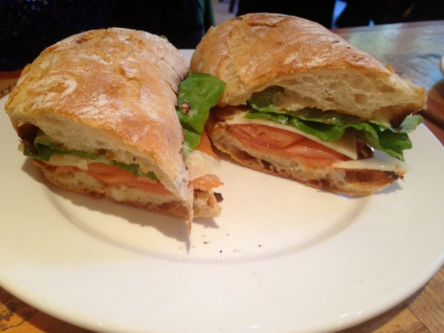 Un panino en Bar Pitti en el West Village de Nueva York