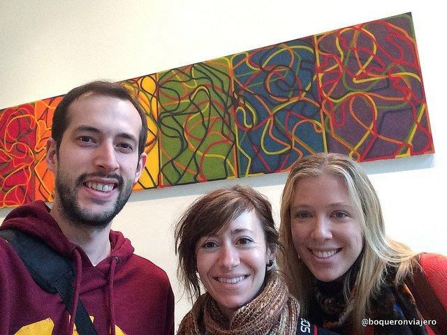 Visitando el MoMA en Nueva York con una amiga.