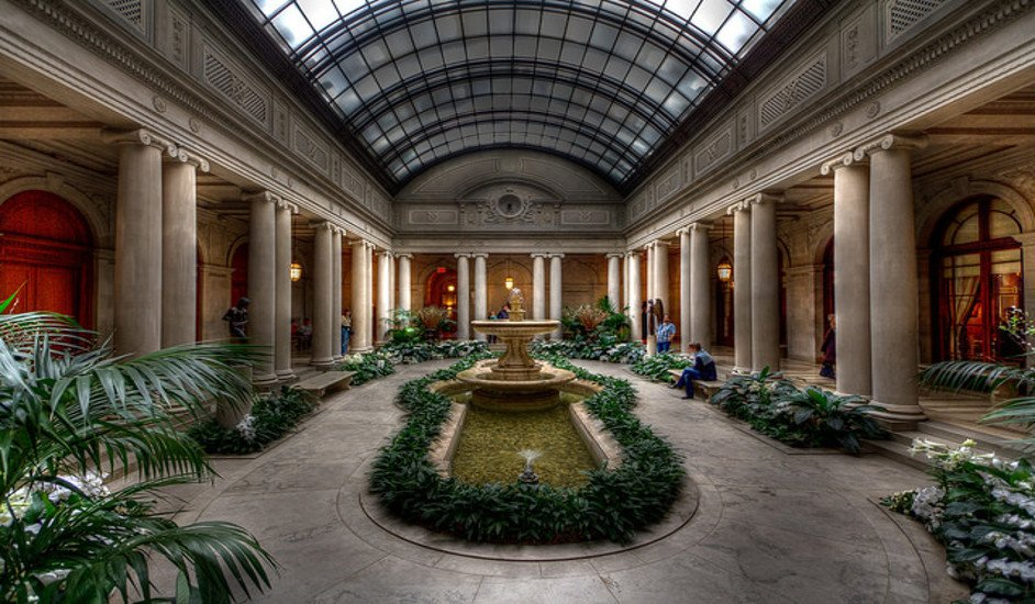 El Patio Jardin de The Frick Collection en Nueva York
