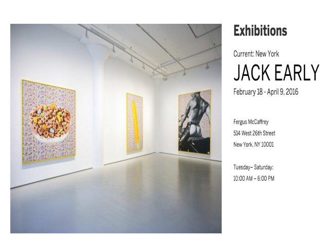 Esta Semana en Nueva York es tu última oportunidad para ver la exhibición de Jack Early en Chelsea