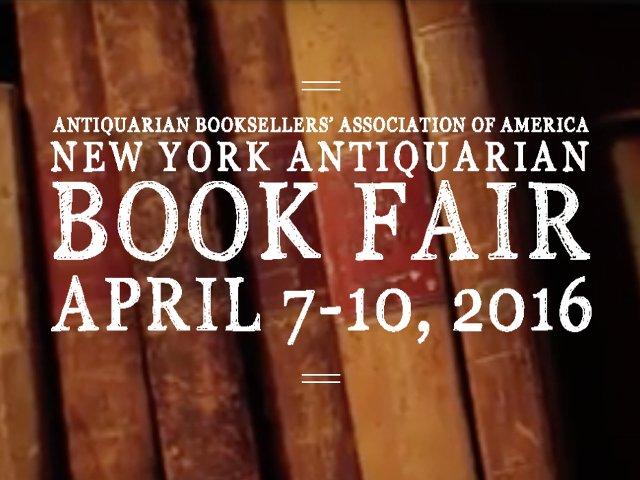 Esta semana en Nueva York comienza la feria de libros antiguos