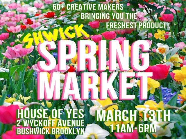 Esta semana en Nueva York se puede ir al Shwick Spring Market en Brooklyn