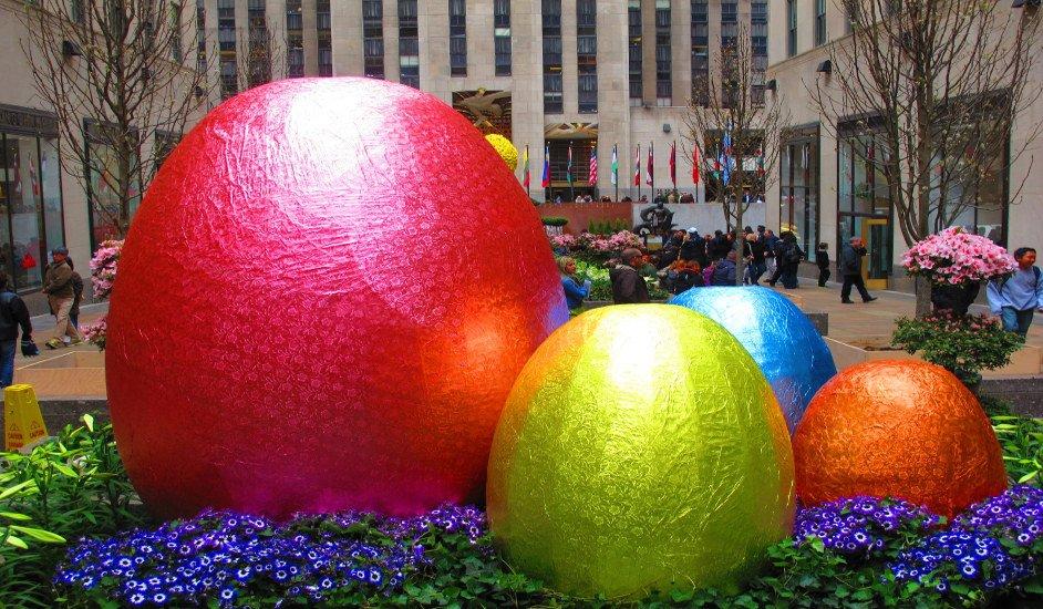Huevos de Pascua en Rockefeller Center para Semana Santa en Nueva York
