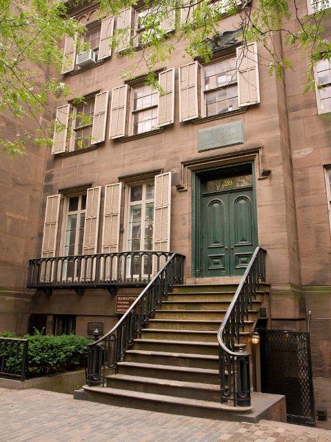 La casa natal del ex-presidente de los EEUU, Theodore Roosevelt esta en el barrio de Gramercy en Nueva York