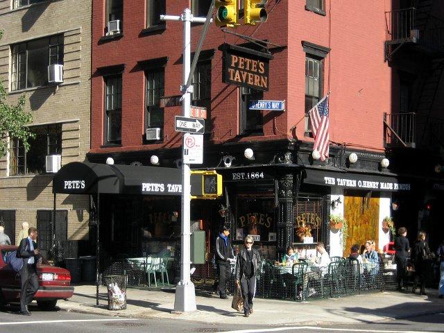 Pete's Tavern es otro lugar conocido en el barrio de Gramercy en Nueva York