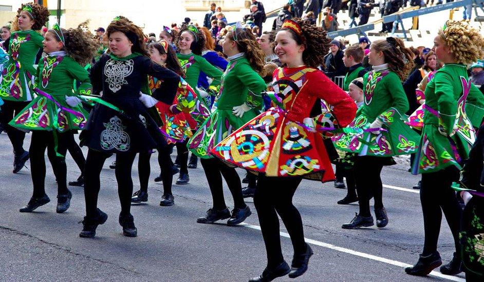 Bailando para el Día de San Patricio en Nueva York
