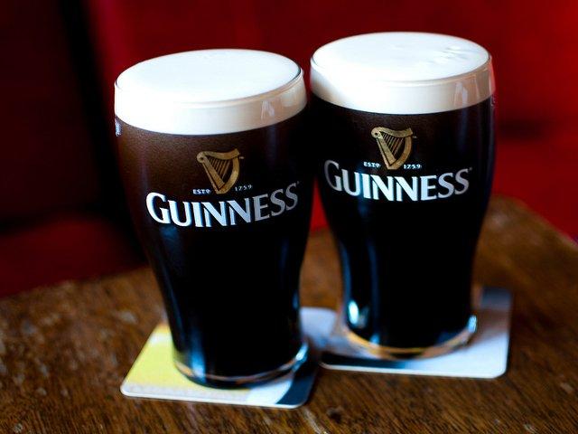 Una pinta de Guinness el día de San Patricio en Nueva York