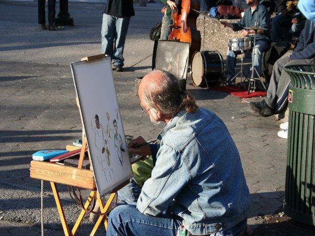 En Nueva York en mayo Washington Square Park se llena de artistas