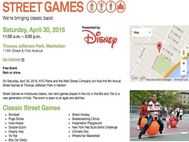 Esta semana en Nueva York habrá juegos en la calle