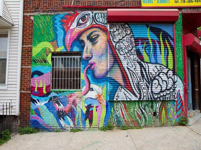 Una cosa que hacer en Nueva York en primavera es visitar Bushwick Brooklyn para ver el arte urbano.