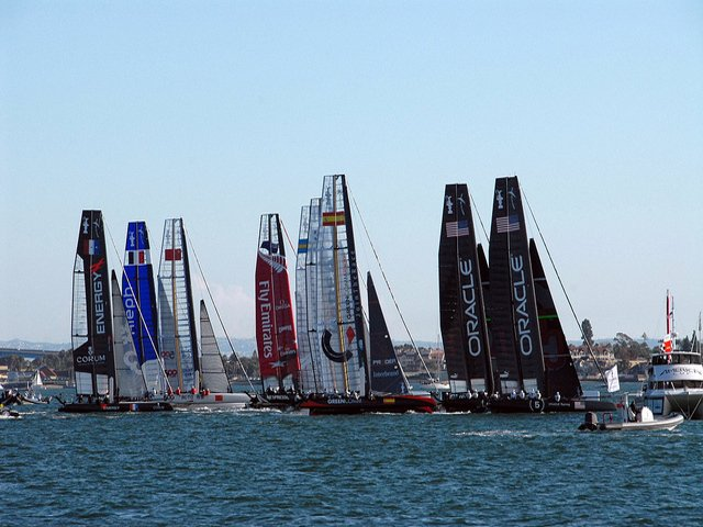 Esta semana en Nueva York la competición de barcos America's Cup