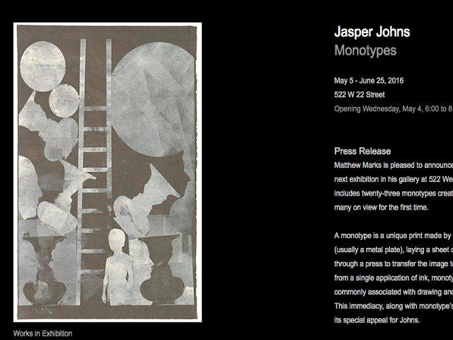 Esta semana en Nueva York los monotipos de Jasper Johns