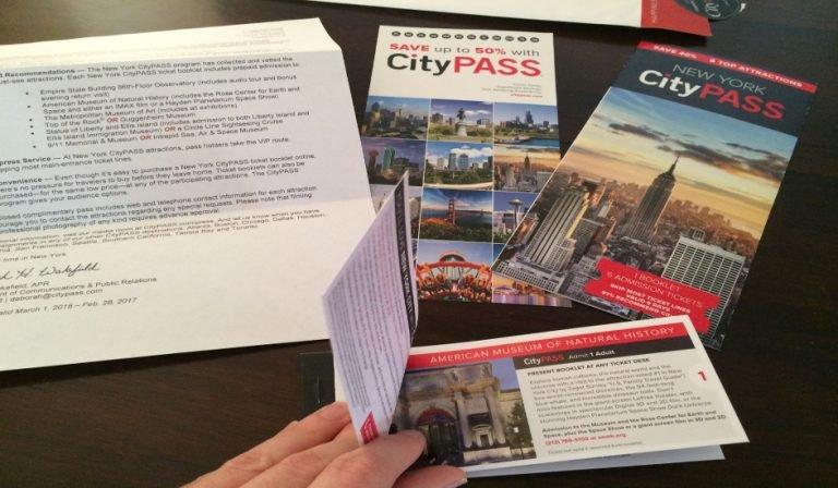 Talonario de la City Pass