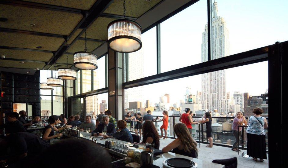 Vistas desde la terraza rooftop Hotel Archer