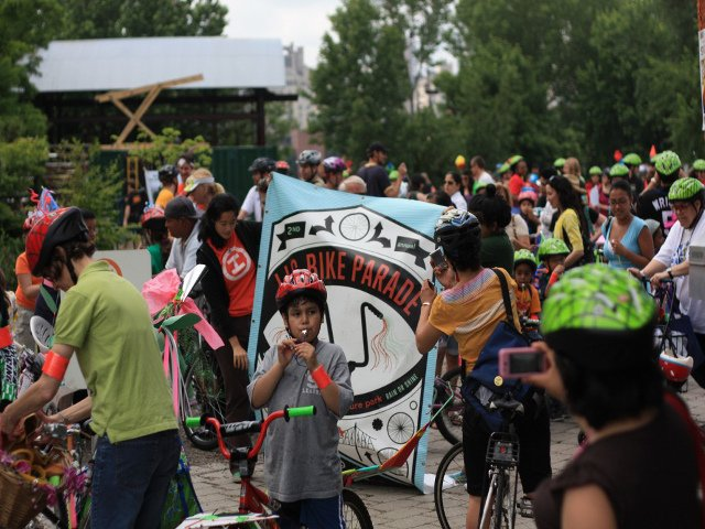 Esta semana en Nueva York un desfile de bicicletas en Long Island City