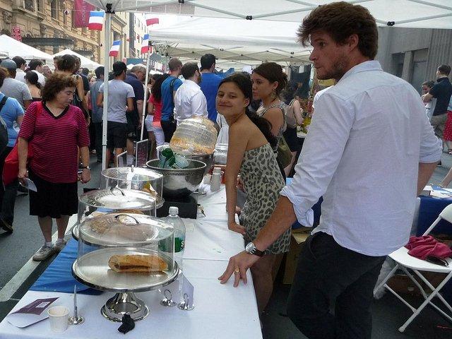 Celebrar Bastille Day en Nueva York en julio