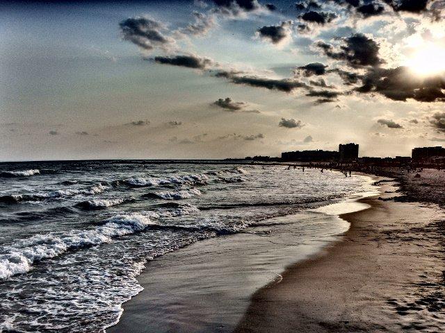 La playa de Rockaway en agosto en Nueva York