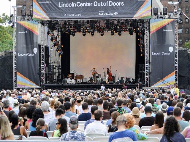 Out of Doors Lincoln Center en agosto en Nueva York
