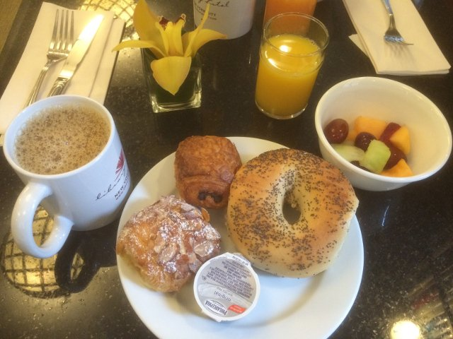 El desayuno en el Library Hotel Nueva York