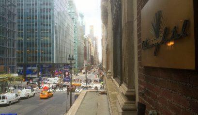 Las vistas desde la sala de lectura en el Library Hotel Nueva York