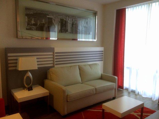 Sala en nuestra habitación en el Riu Plaza New York