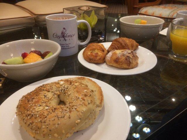 El desayuno en el Casablanca Hotel Nueva York