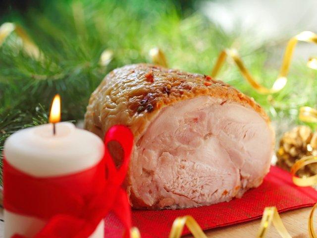 El jamón asado es una comida típica de navidad en Nueva York