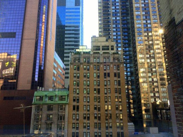 Las vistas desde nuestra habitación en el citzenM Hotel New York Times Square