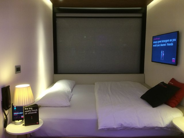 Nuestra habitación en citizenM hotel New York Times Square