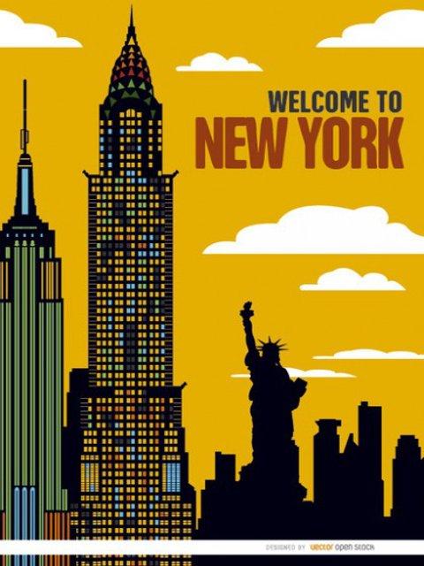 Un regalo de navidad de Nueva York puede ser un póster