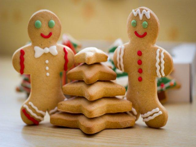 Una comida típica de navidad en Nueva York es la galleta de jengibre