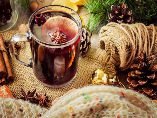 Vino caliente es típico en navidad en Nueva York