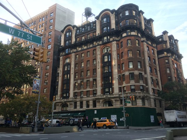Exterior del Hotel Belleclaire en el Upper West Side de Nueva York