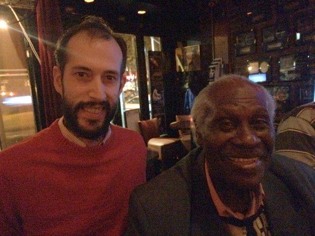 Pedro con Reuben Wilson en Smoke Jazz Nueva York