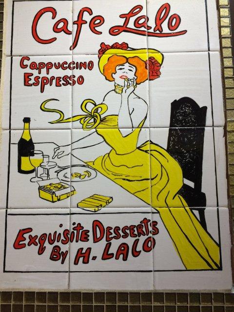 Azulejo en Café Lalo Nueva York