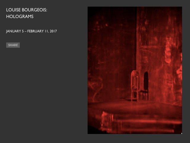 Esta semana en Nueva York una exposición de Louise Bourgeois