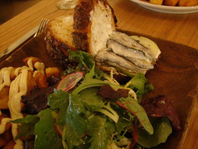 Cenando en Restaurante La Boqueria Flatiron Nueva York