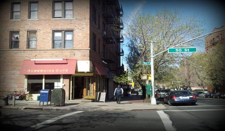 Exterior Aubergine Cafe Queens