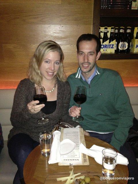 Pedro y Abby en Restaurante La Boqueria Flatiron Nueva York