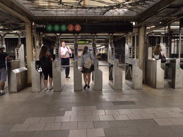 Entrada al metro de Nueva york