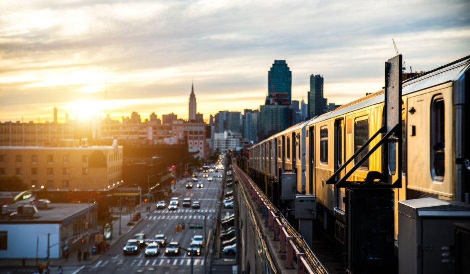 Metro de Nueva York desde Sunnyside