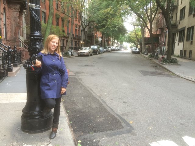 Abby en Greenwich Village