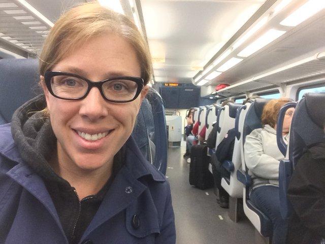 25 Viajando en tren desde el Aeropuerto de Newark