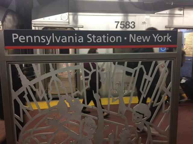 26 Llegada a Penn Station en Nueva York desde el Aeropuerto de Newark
