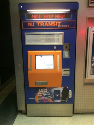 3 Maquina de comprar billetes Air Train Aeropuerto de Newark