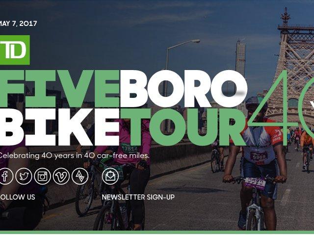 Esta semana en Nueva York el 5 boro bike tour